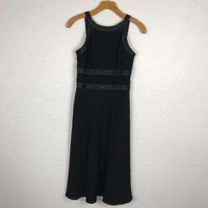 Ann Taylor Ribbon Trim Beaded Dress